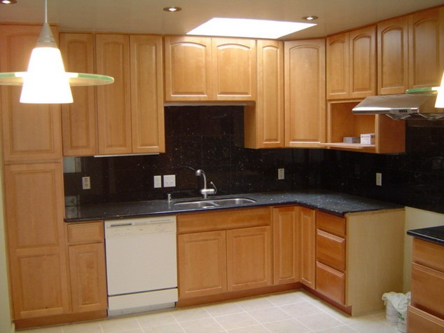 hardwood kitchen cabinets