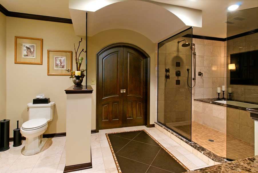 luxury bathroom flooring