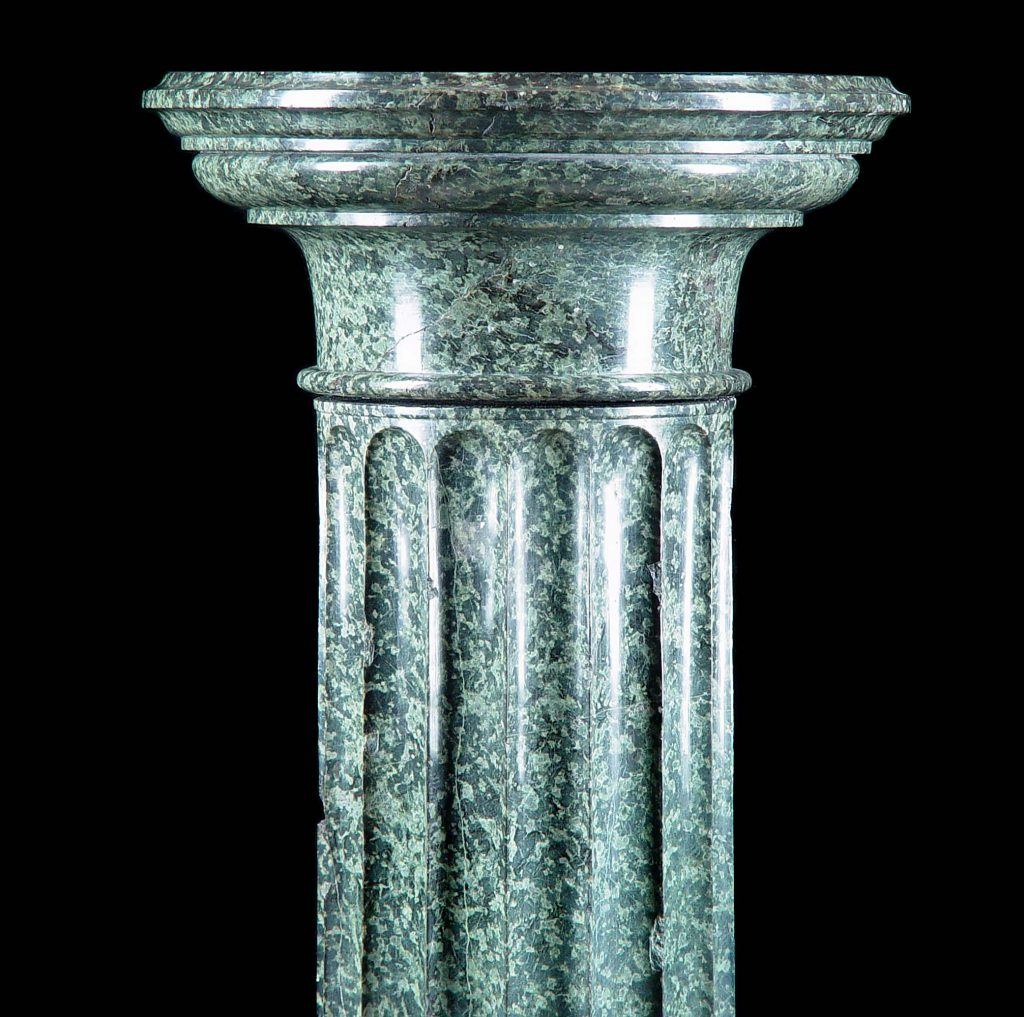 marble columns delineate space