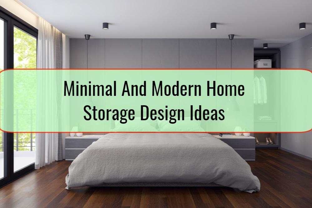 Minimal And Modern Home Storage Design Ideas