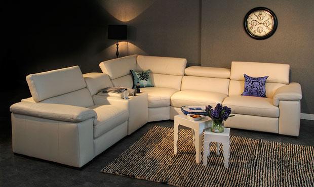Fabio Leather Cinema-Sofa