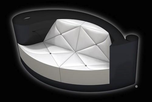 Plume-Blanche Diamond Encrusted Sofa