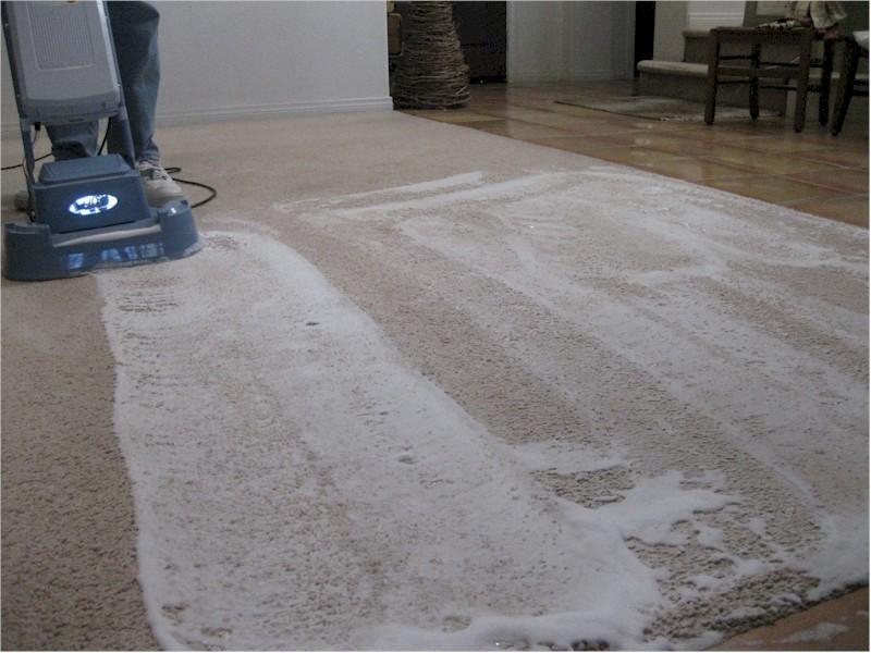Dry foam carpet shampoo floor matttroy