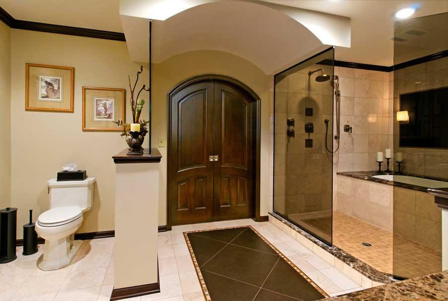 luxury bathroom flooring